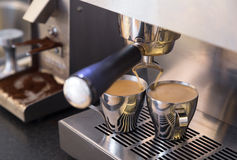 Café express doble Imagenes de archivo