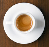 Café express en taza de café Fotos de archivo