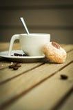 Café express en terraza del verano Fotos de archivo libres de regalías