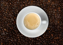 Café express et haricots Image stock