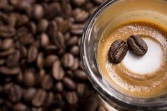 Café express Macchiato Fotografía de archivo libre de regalías
