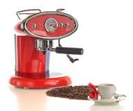 Café express muy de buen gusto con el fabricante de café imágenes de archivo libres de regalías