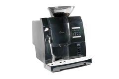 Café express negro que hace la máquina Fotografía de archivo libre de regalías
