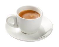 Café express, taza de café aislada en blanco Foto de archivo