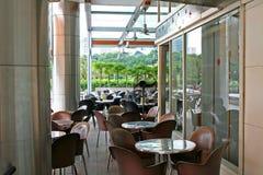 Café extérieur image stock