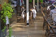 Café extérieur de Barcelone Images libres de droits