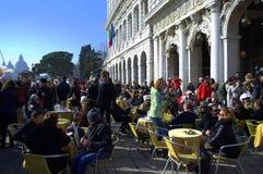Café extérieur de Venise Images libres de droits