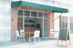 Café exterior del lado Foto de archivo libre de regalías