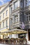 Café exterior em Tallinn Fotos de Stock