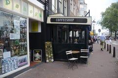 Café-faites des emplettes à Amsterdam, Hollandes Images libres de droits