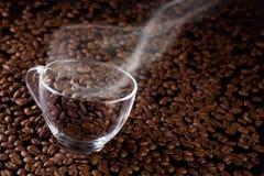 Café-feijões Fotos de Stock Royalty Free