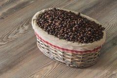 Café, feijões de café aromáticos frescos Imagem de Stock Royalty Free