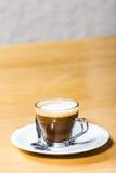 Café feito fresco do macciato Imagem de Stock