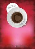 Café feliz del día de tarjetas del día de San Valentín Imagen de archivo libre de regalías