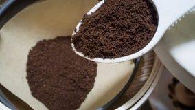 Café finamente à terra Imagens de Stock