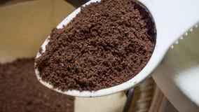 Café finement moulu Photos stock