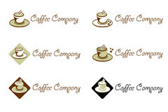 Café Firma - Zeichen und Marke für Kaffee Stockfoto
