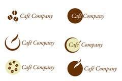 Café Firma - Zeichen und Marke für Kaffee Stockfotos