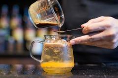 Café frío del brebaje imagen de archivo