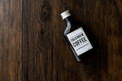 Café frío del brebaje en una botella Fotos de archivo libres de regalías