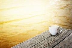 Café fragante del capuchino Foto de archivo
