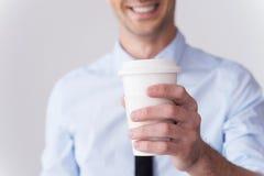 Café frais pour vous ! photos stock