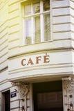 Café français à Vienne un jour ensoleillé Photographie stock libre de droits