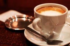 Café français avec de l'Au Lait de Café de lait image libre de droits