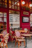 Café francés del estilo fotografía de archivo