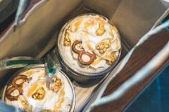 Café Frappucchino de Zel del ` del estallido Foto de archivo libre de regalías