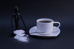 Café fresco con el azúcar Fotos de archivo