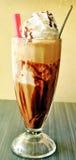 Café froid avec la crème glacée  photos stock
