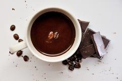 Café fuerte y oscuridad del chocolate Imagen de archivo