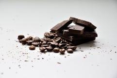 Café fuerte y oscuridad del chocolate Imagenes de archivo