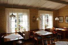 Café in Gammelstad Church Town Royalty Free Stock Photo
