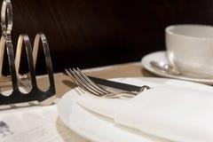 Café-Gedeck Lizenzfreie Stockbilder