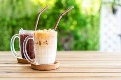 café glacé de latte avec du chocolat glacé photographie stock
