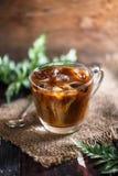 Café glacé ou café glacé de latte pour l'été image stock