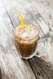 Café glacé thaïlandais avec du lait image libre de droits