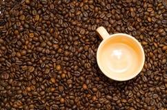 Café, granos de café Foto de archivo libre de regalías
