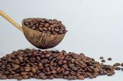 Café, granos de café Fotografía de archivo libre de regalías