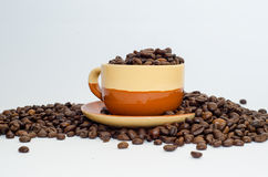 Café, granos de café Fotografía de archivo
