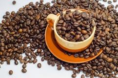 Café, granos de café Foto de archivo