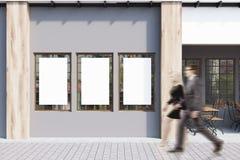Café gris, affiches, les gens Images stock