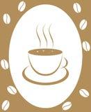 Café-habas ilustración del vector