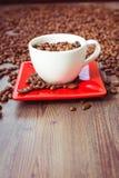Café, habas, taza, marrón, mañana Foto de archivo