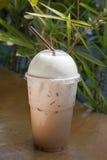 Café helado del latte fotografía de archivo