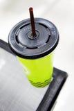 Café helado en café Imagen de archivo