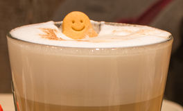 Café heureux de sourire Photos libres de droits