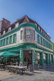 Café histórico Kachelhaus em Bielefeld Imagens de Stock